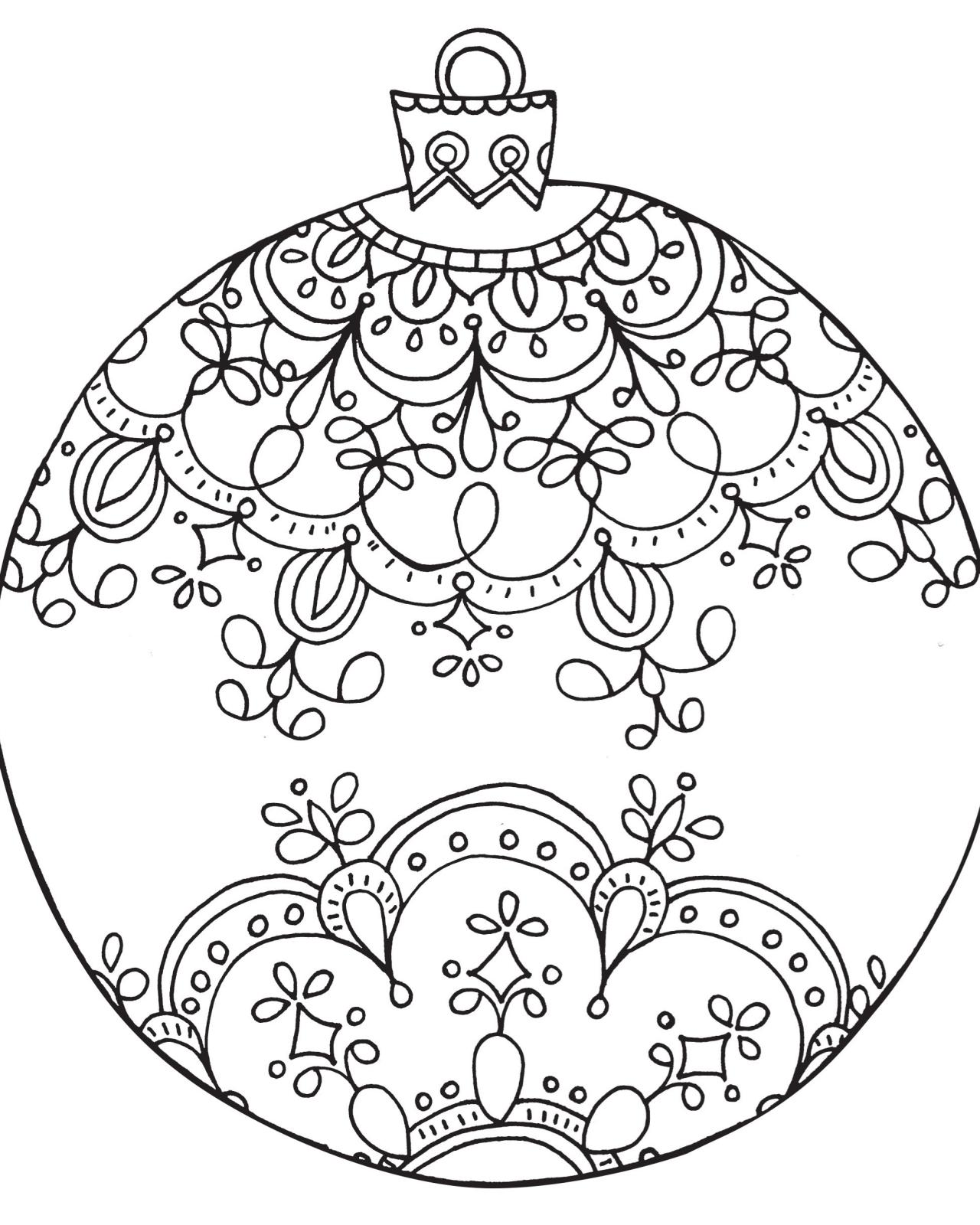 1280x1600 Christmas Ornament Coloring Page Cut Out Pages