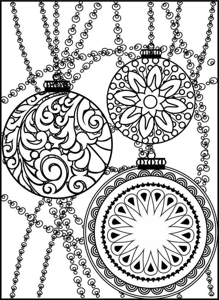 736x1009 Christmas Ornament Coloring Pages Fun Time
