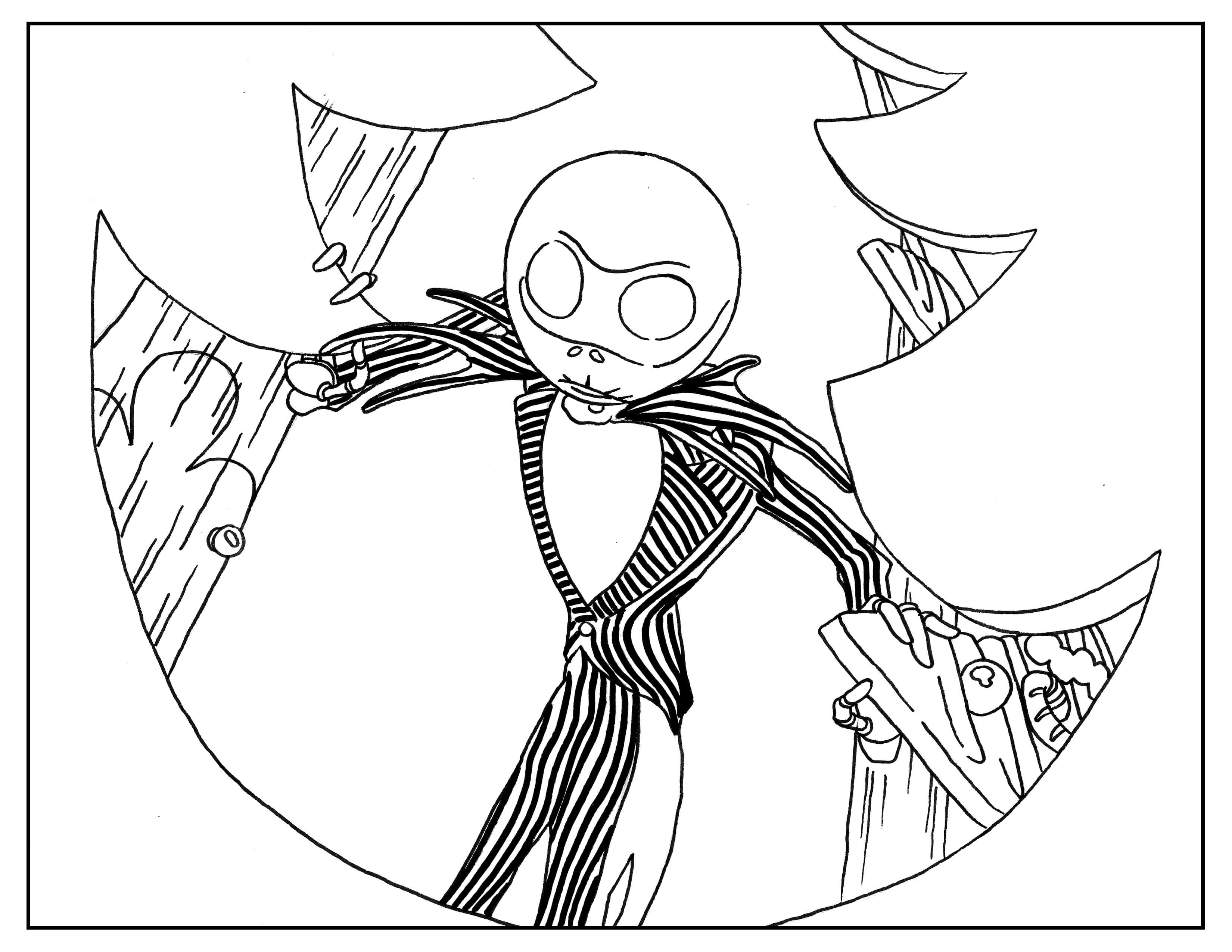 3300x2550 Nightmare Before Christmas Adult Book Page