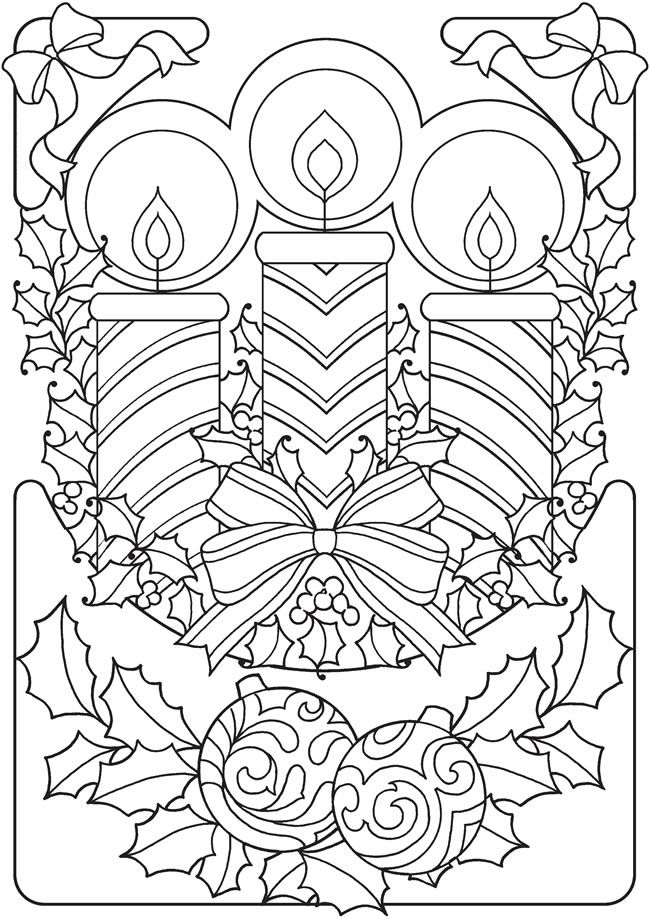 650x919 Old Fashioned Coloring Pages For Christmas