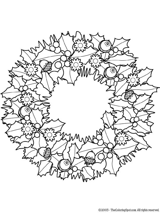 540x720 Christmas Coloring Pages For Adults