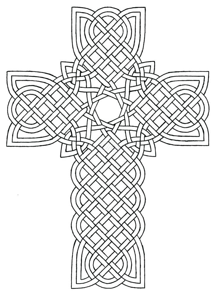 736x1007 Coloring Page Cross Cross Coloring Pages Fancy Cross Coloring Page