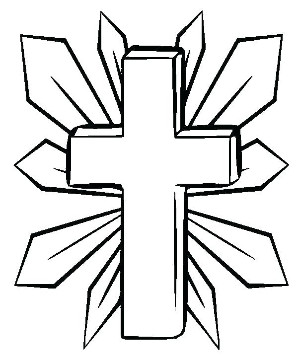 600x731 Cross Coloring Pages Cross Coloring Pages To Print Cross Cross