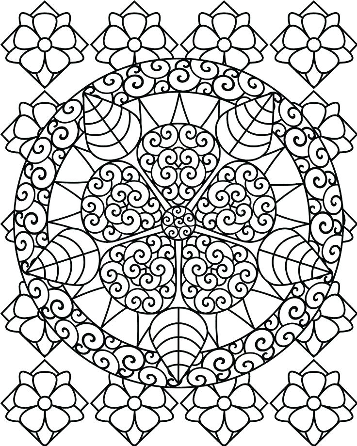 736x920 Difficult Coloring Books Also Printable Abstract Coloring Pages