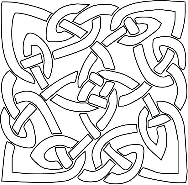 600x590 Abstract Coloring Page For Coloring Pages For Kids Abstract