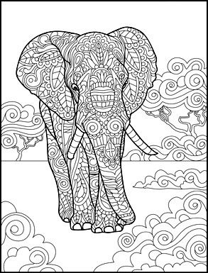Coloring Pages For Adults Elephants