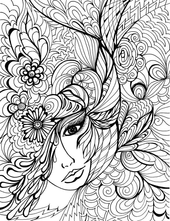 650x847 Images About Fanciful Faces Coloring For Adults Art Pages