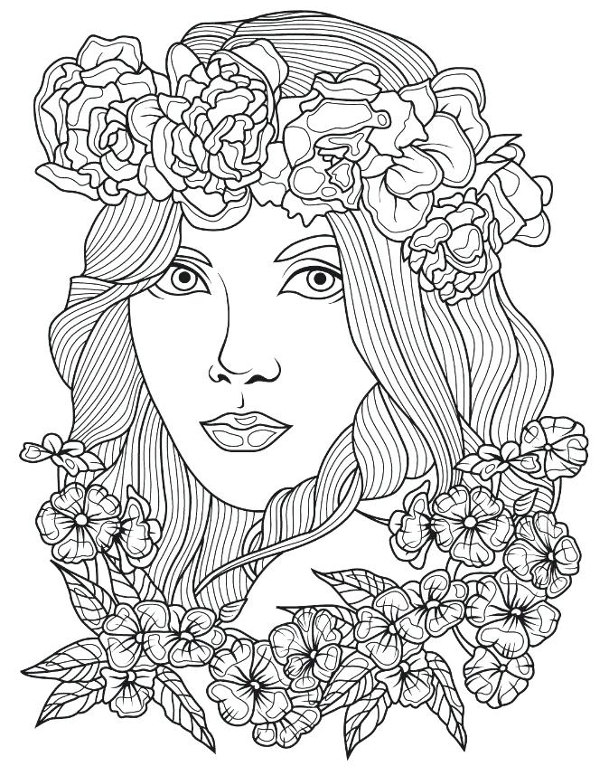 674x847 Face Coloring Pages
