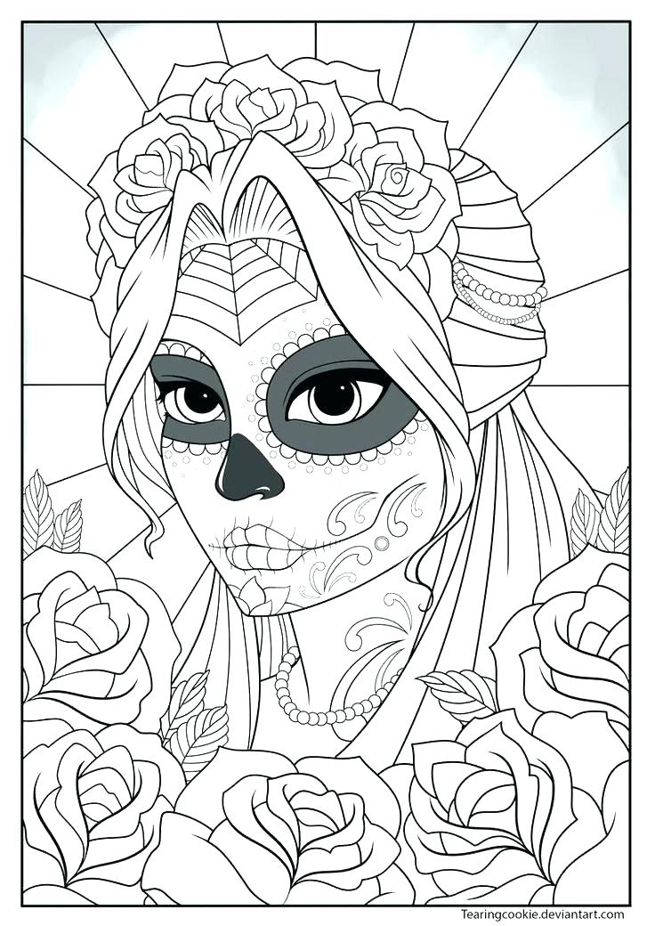 736x1040 Girl Face Coloring Pages