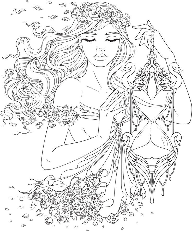 736x886 Best Beautiful Women Coloring Pages For Adults Images