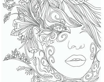 Coloring Pages For Adults Faces At Getdrawings Com Free
