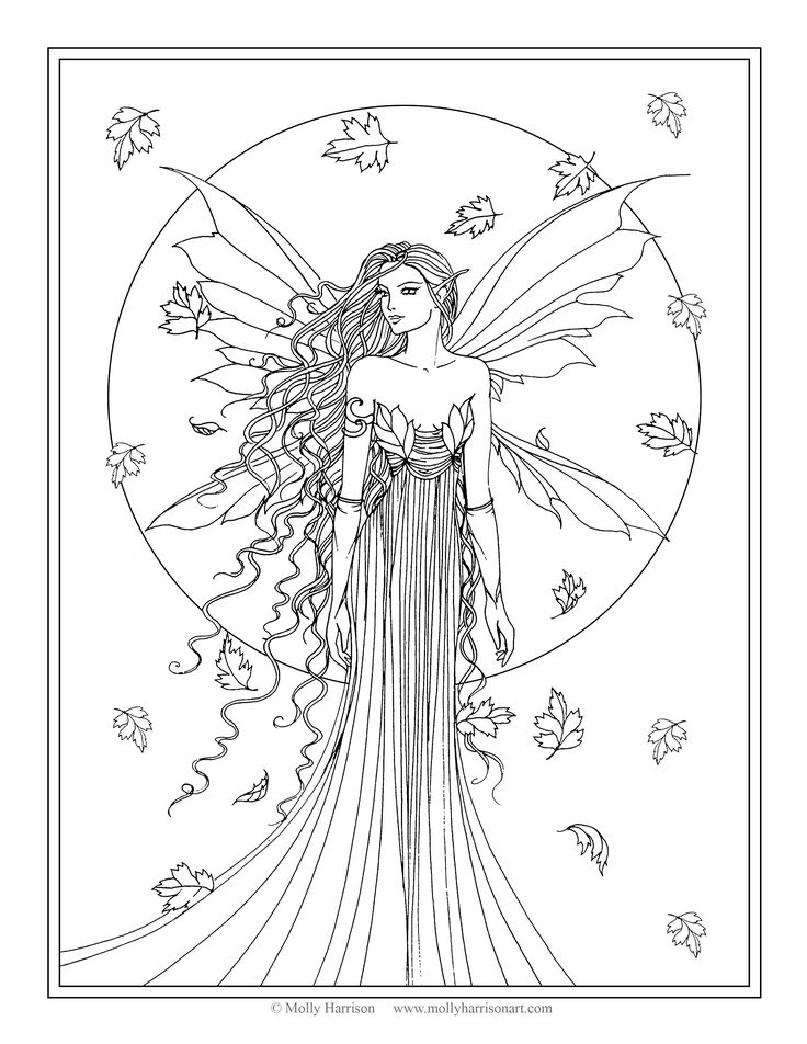 Coloring Pages For Adults Fairy