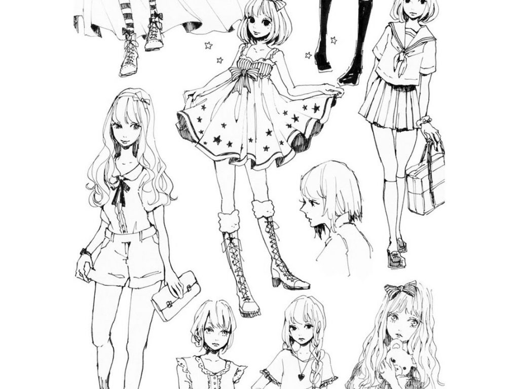 1024x768 Fashion Coloring Pages For Adults In Humorous Page Barbie