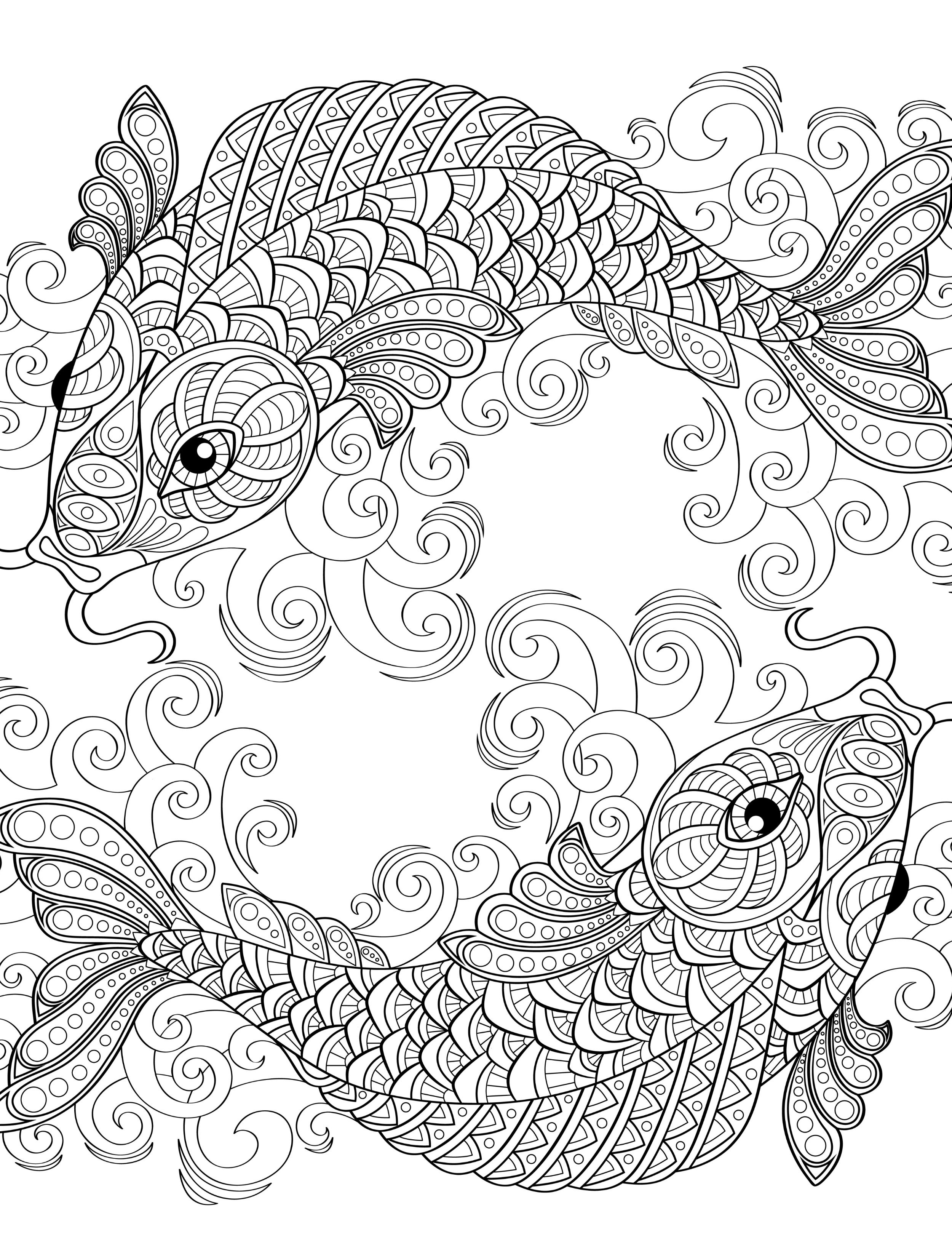 2500x3300 Absurdly Whimsical Adult Coloring Pages Coloring
