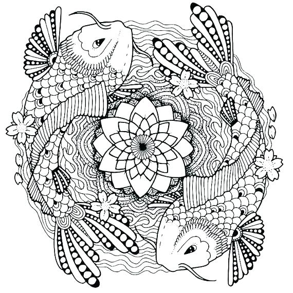 570x570 Fish Coloring Pages For Adults Fish Coloring Page Fish Coloring