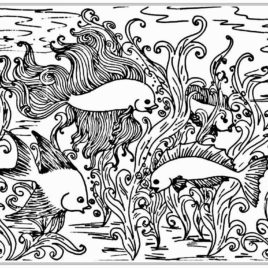 268x268 Fish Coloring Pages For Adults Give The Best Coloring Pages