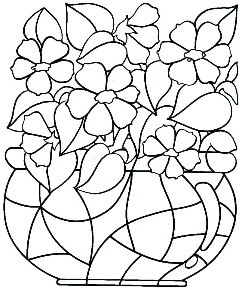 805x963 Easy Flower Coloring Pages Download Flower Coloring Pages Flower