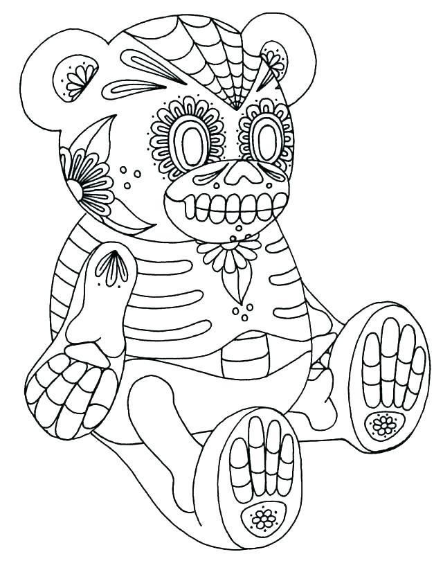640x823 El Dia De Los Muertos Coloring Pages Coloring Page Coloring Pages
