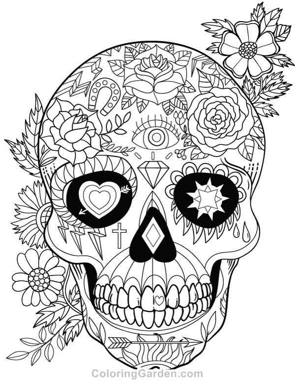 600x776 Free Printable Sugar Skull