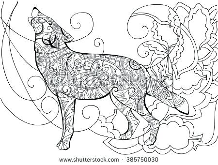 Coloring Pages For Adults Wolf At Getdrawings Com Free For