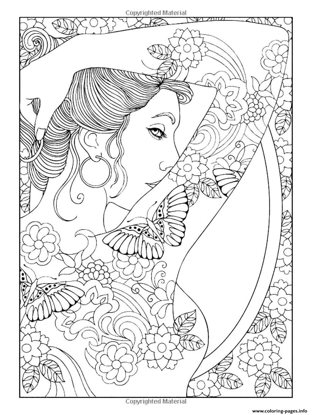 1024x1365 Coloring Pages Of Women Wagashiya