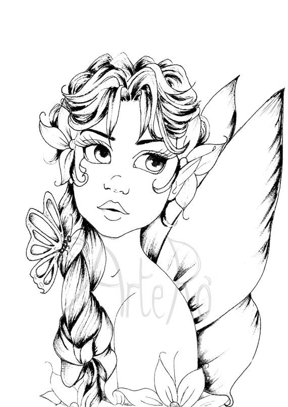 570x806 Extraordinary Design Ideas Fairy Coloring Pages For Adults V
