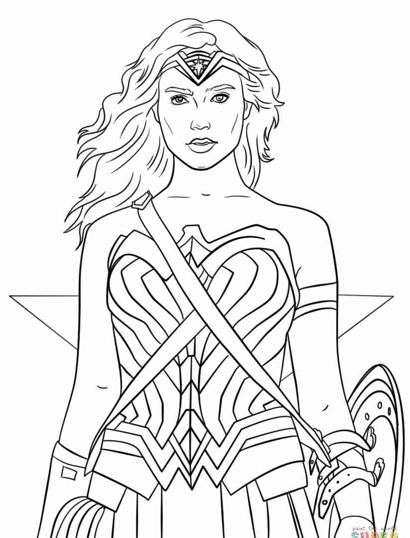 824x1080 Free To Print Wonder Woman Coloring Pages For Adults Superhero