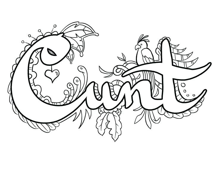 736x568 Word Coloring Pages Adult Coloring Swear Word Coloring Pages Free