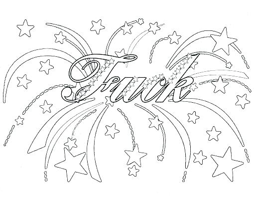 510x405 Cuss Word Coloring Pages