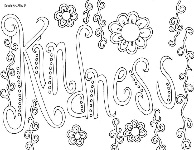 The Best Free Positive Coloring Page Images Download From