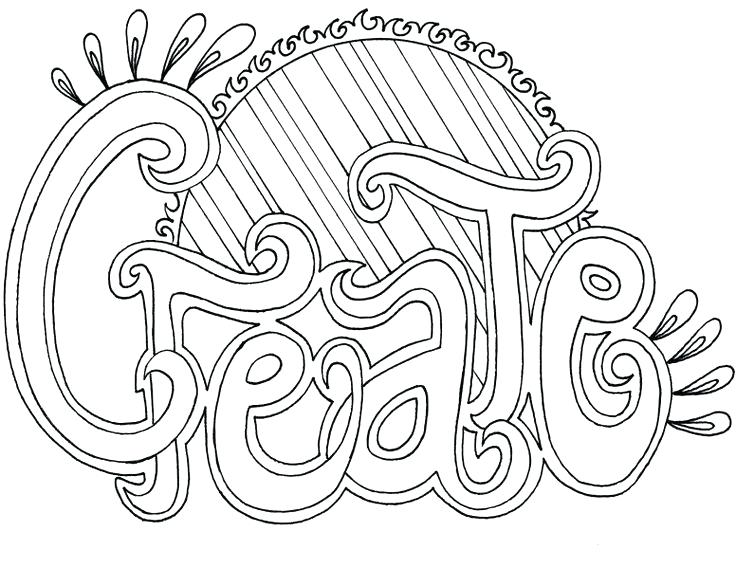 736x568 Word Coloring Pages
