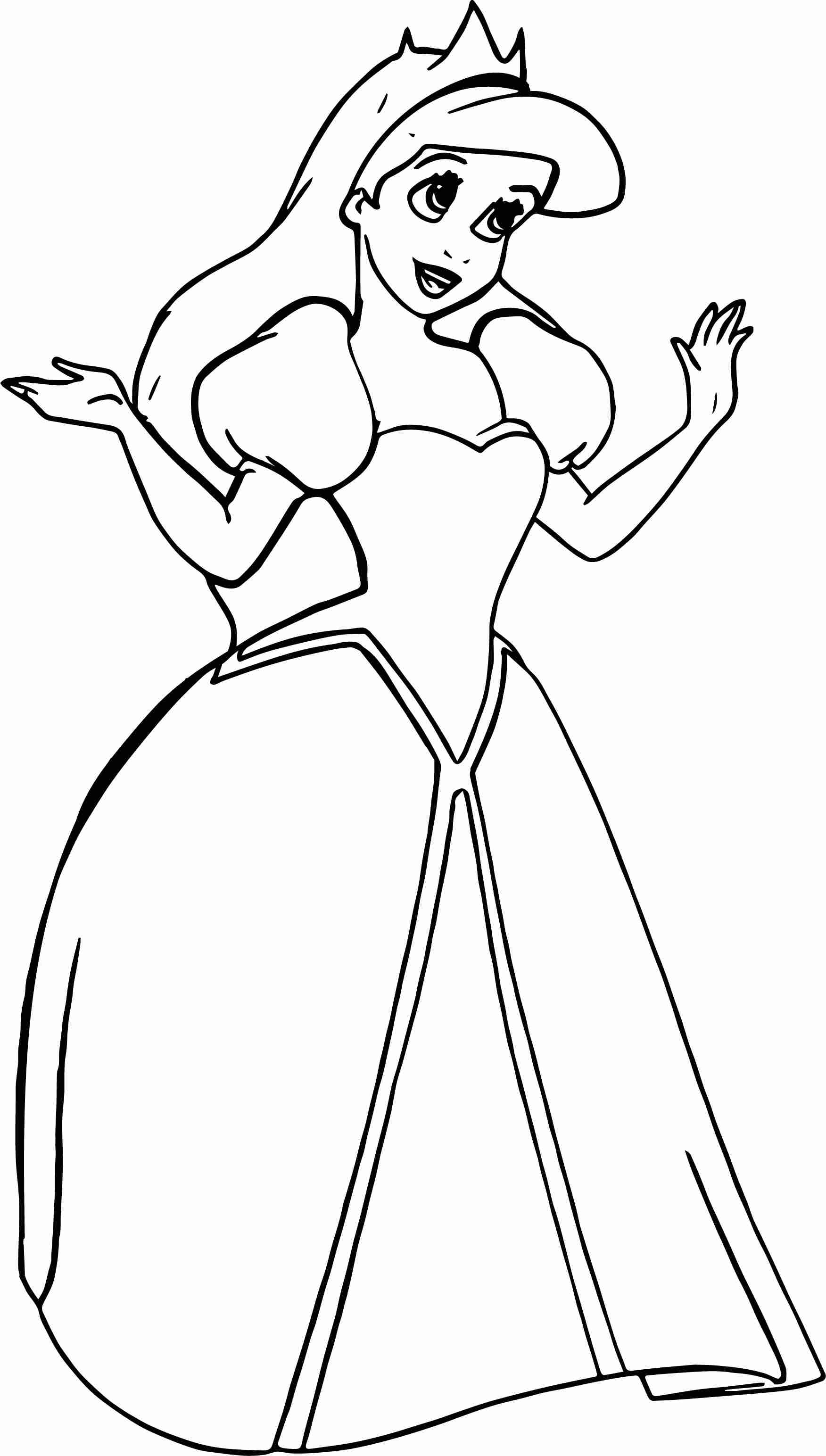 1752x3088 Little Mermaid Coloring Pages Ariel Friends Coloringstar Within