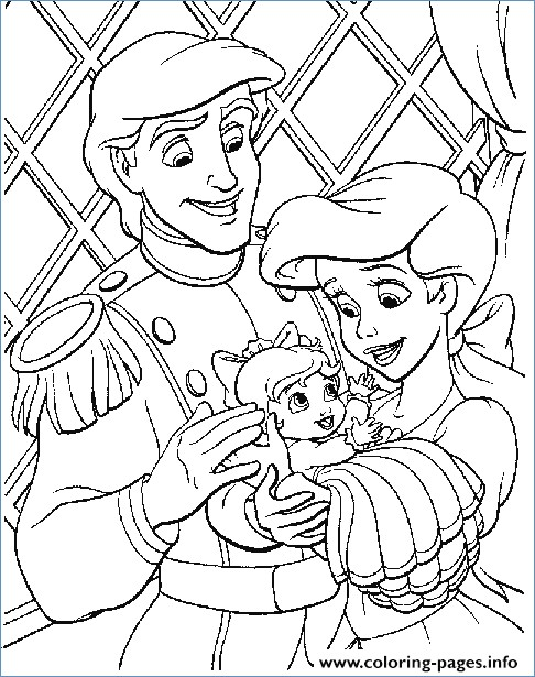 486x615 Ariel The Little Mermaid Easter Disney Coloring Pages