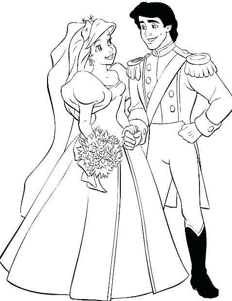478x619 Ariel Wedding Coloring Pages Wedding Coloring Pages Ariel And Eric