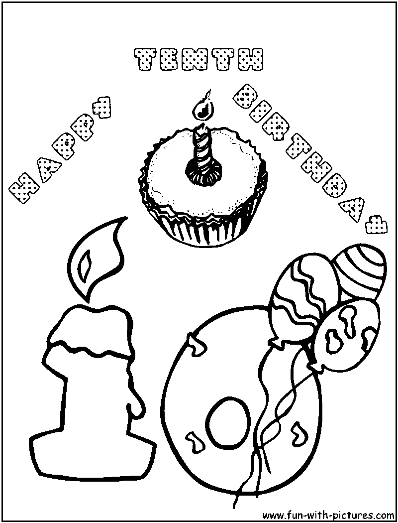 800x1050 Birthday Coloring Pages For Aunts