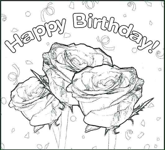 531x484 Birthday Coloring Pages For Aunts