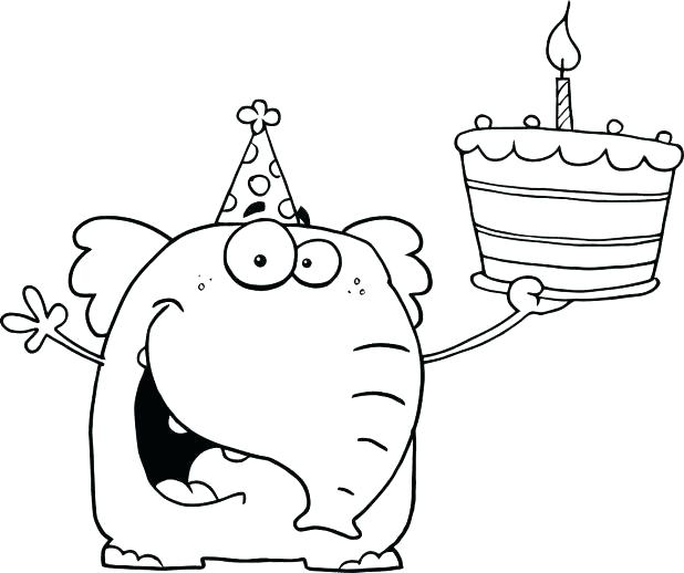 618x518 Coloring Pages For Kids Animals Auntie Happy Birthday Page