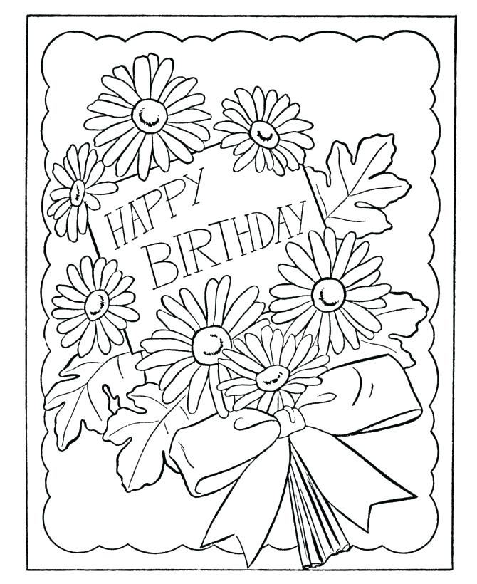 670x820 Birthday Color Pages Coloring Page Happy Birthday Birthday Color