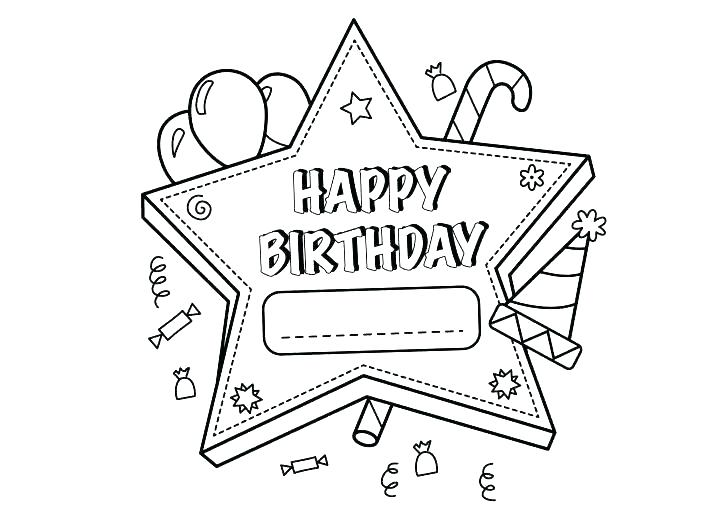 728x519 Birthday Color Pages Happy Birthday Colouring Pages For Dad Happy