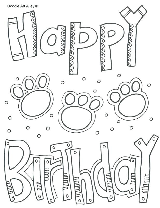 618x800 Birthday Color Pages Happy Birthday Paws Free Printable Coloring