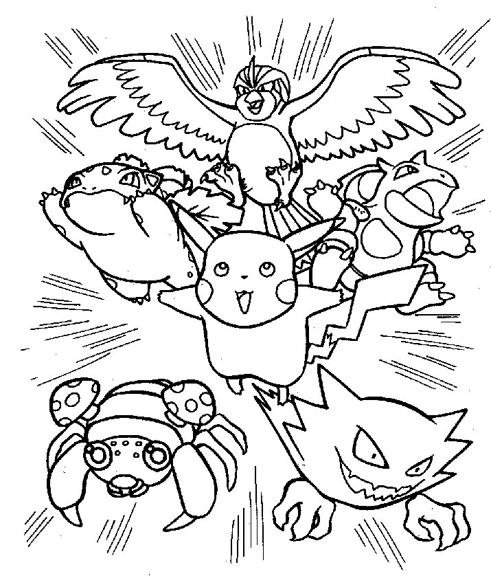 715x854 Pokemon Coloring Pages Free Download