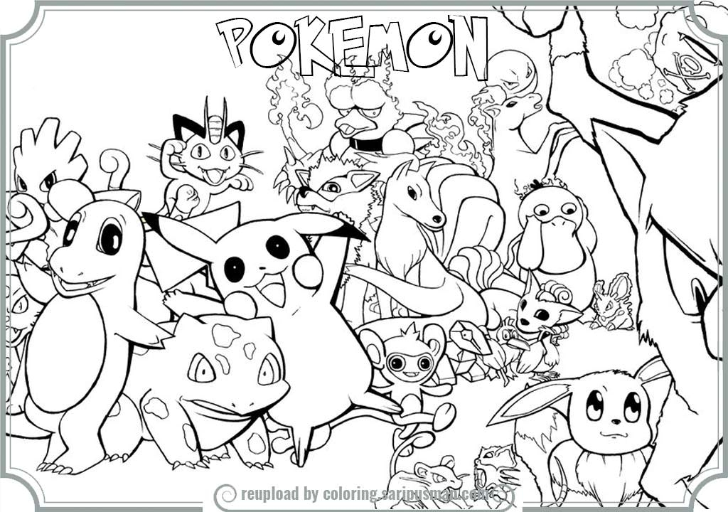 1024x720 All Coloring Pages Coloring Pages Engaging Color Pokemon Online