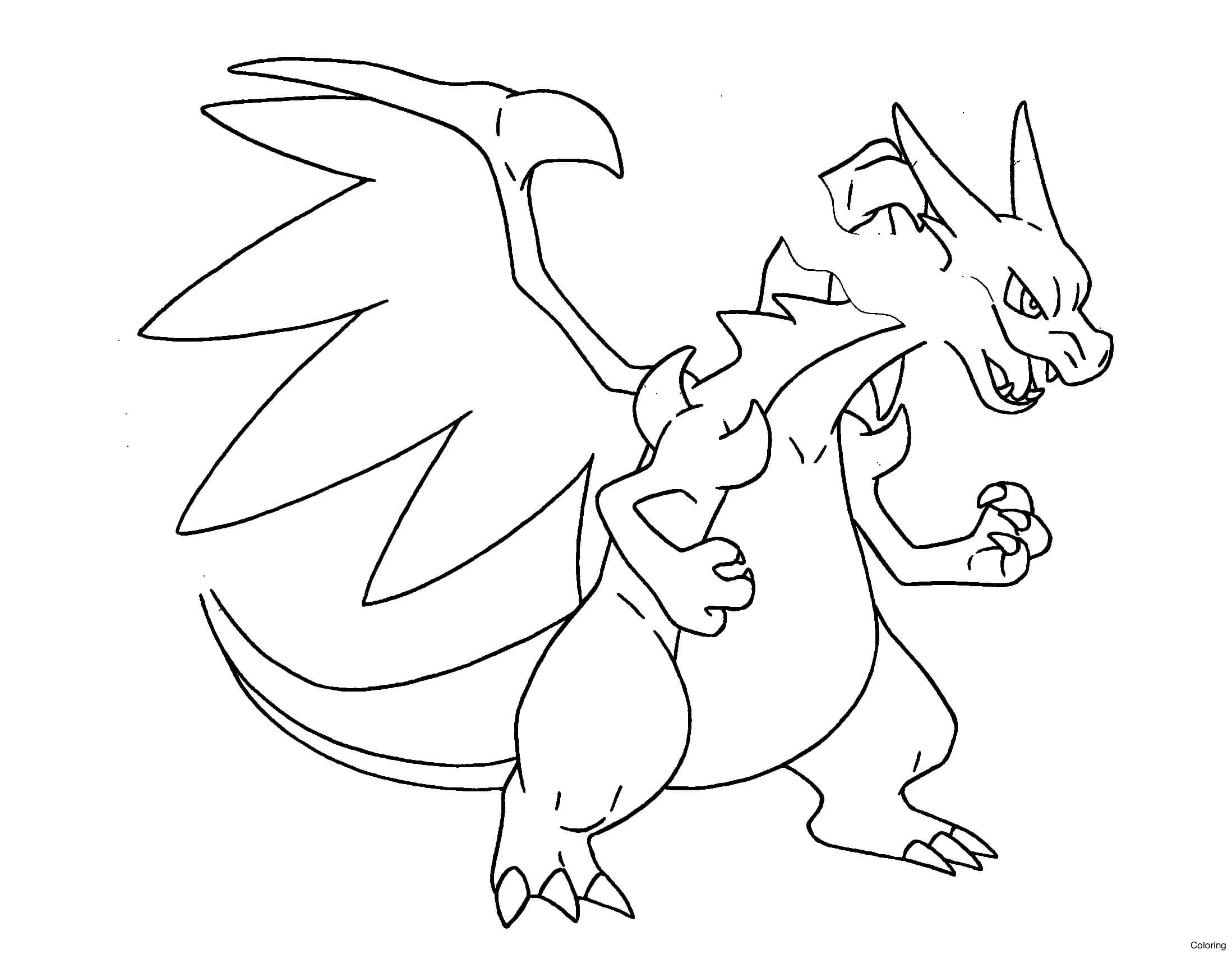 2197x1701 Charmander Pokemon Coloring Pages For Kids Pokemon Characters