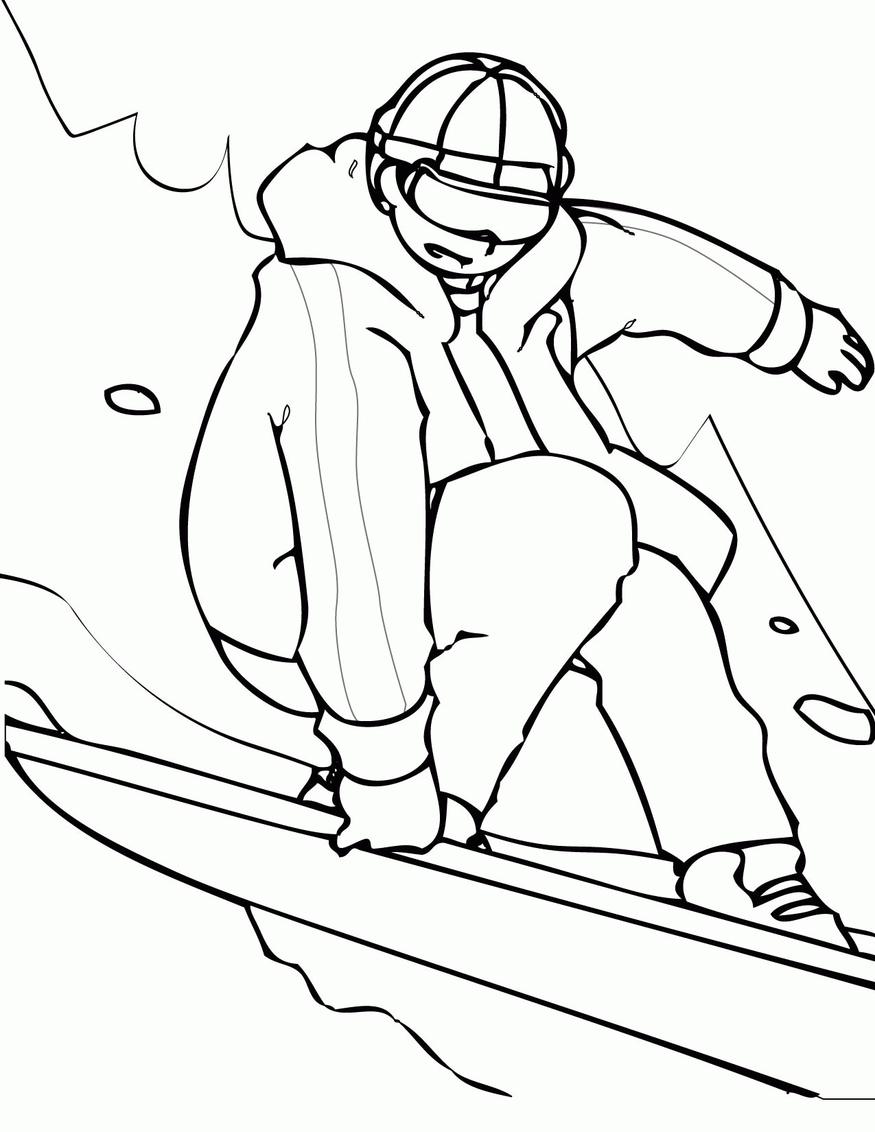 1275x1650 Cool Winter Sports Coloring Pages Kids