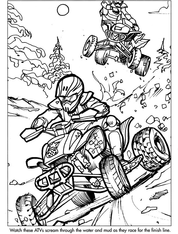 613x805 Extreme Sports Coloring Pages