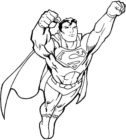 Coloring Pages For Boys Superheroes