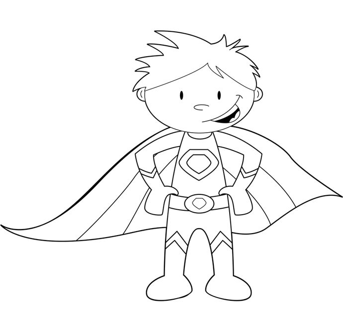 690x668 Super Hero Coloring Page Best Superhero Coloring Pages Ideas