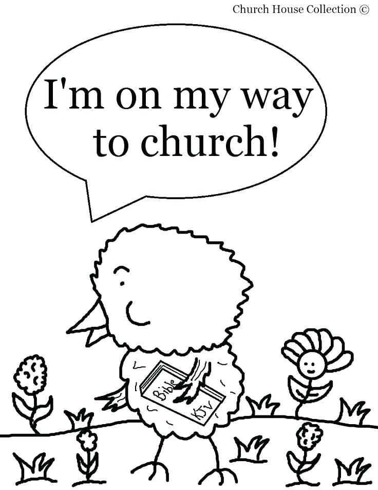 736x952 Church Coloring Pages To Print Free Printable Church Coloring