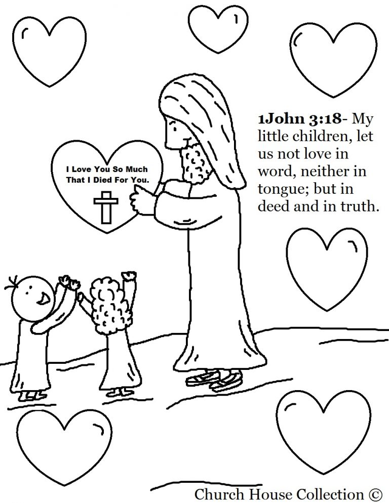 768x994 Free Coloring Pages Childrens Church With For Sunday School