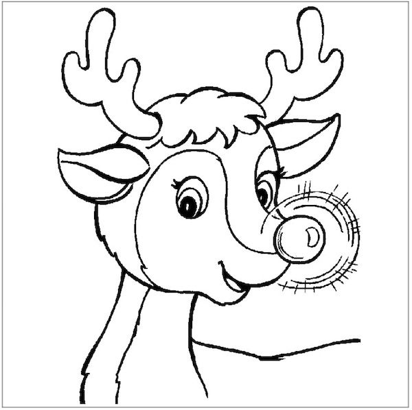 Coloring Pages For Christmas Reindeer